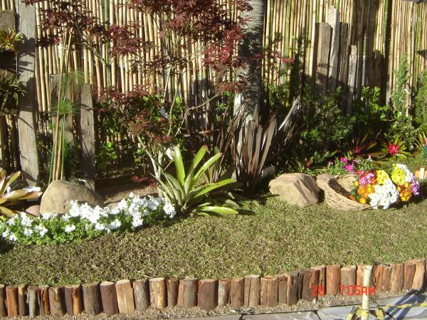 pedra cimento jardim